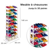 Meuble Organisateurs Range Chaussures 25/30 Paires �tag�re Placard Armoire