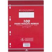 Conqu�rant Sept Lot De 5 Etuis 50 Feuillets Mobiles (100 Pages) A4 210 X 297 Petits Carreaux 90 Gr