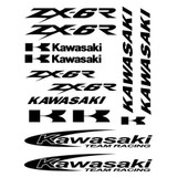 Plaquette Planche De Stickers Autocollants Kawasaki Zx-6r Zx6r