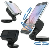 Support Voiture Orientable Pour Telephone Smartphone Avertisseur Coyote Gps - Samsung Galaxy Note 2 3 4 A7