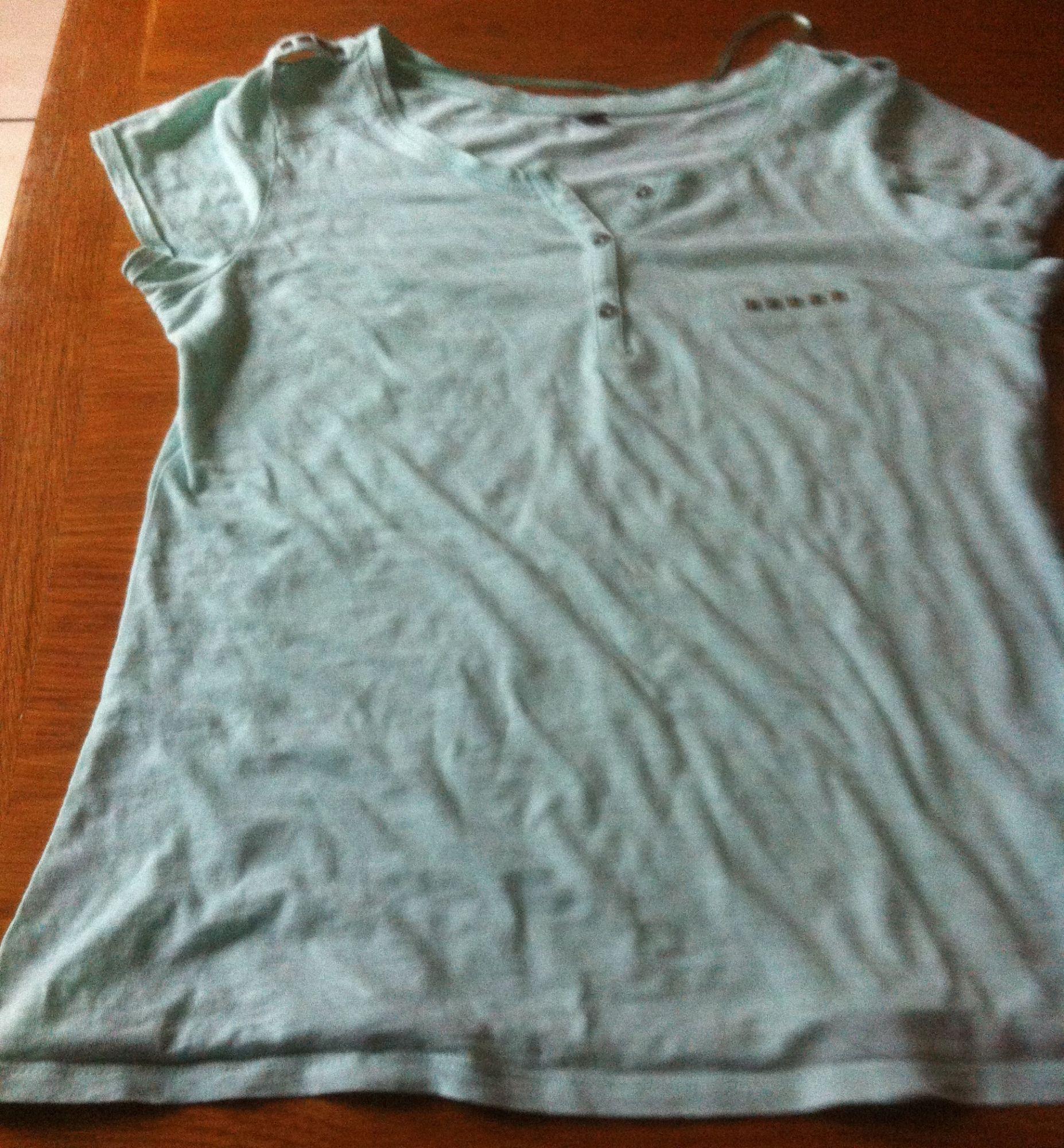 T-Shirt Pimkie Vert Pale T S Comme Neuf