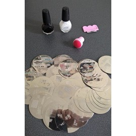 Lot 20 Plaques Stamping Pour Vernis � Ongles Konad + Tampon Et Raclette