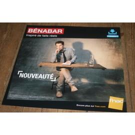plv souple 30x30cm BENABAR inspiré de faits réels / magasin FNAC