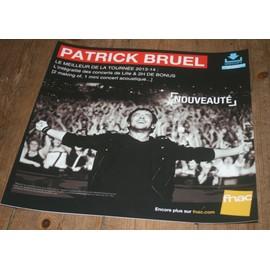 plv souple 30x30cm PATRICK BRUEL la tournée 2013/2014 / magasins FNAC