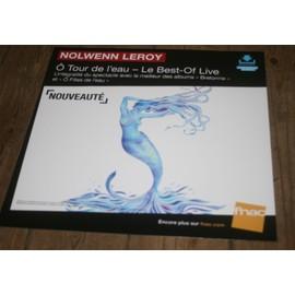 plv souple 30x30cm NOLWENN LEROY ö tour de l'eau - best of live / magasins FNAC