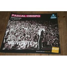plv souple 30x30cm PASCAL OBISPO millésimes - live 2013/2014 / magasins FNAC