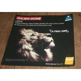 plv souple 30x30cm JULIEN DORE love le coffret collector / magasins FNAC