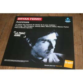 plv souple 30x30cm BRYAN FERRY avonmore ( roxy music ) / magasins FNAC