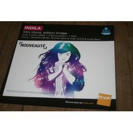 plv souple 30x30cm INDILA mini world , édition limitée / magasins FNAC