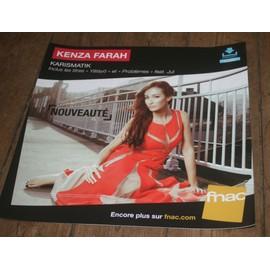 plv souple 30x30cm KENZA FARAH karismatik / magasins FNAC