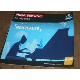 plv souple 30x30cm NINA SIMONE la lègende / magasins FNAC