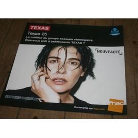 plv souple 30x30cm TEXAS ( sharleen spiteri ) TEXAS 25 / magasins FNAC
