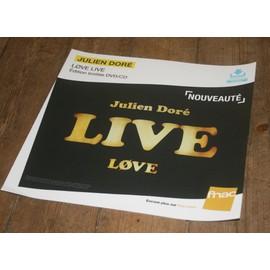 plv souple 30x30cm JULIEN DORE love live / magasins FNAC