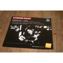 plv souple 30x30cm ETIENNE DAHO diskönoir - live / magasins FNAC