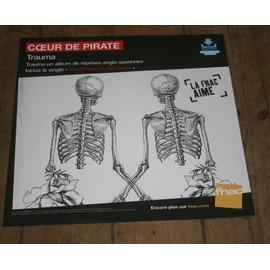 plv souple 30x30cm COEUR DE PIRATE trauma / magasins FNAC