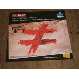 plv souple 30x30cm FAUVE vieux frères - partie 1 / magasins FNAC