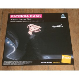plv souple 30x30cm PATRICIA KAAS chante Piaf / magasins FNAC