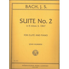 SUITE N°2 in B minor, S. 1067 for flute and piano