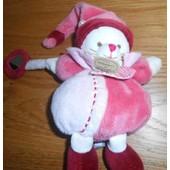Doudou Chat Minouchette Boule Petit Miroir Breloque Doudou Et Compagnie Peluche Chaton Rose Bordeaux Framboise Doudou & Cnie 18cm