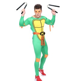 Maboobie D�guisement Costume Tenue Tortue Ninja Homme Garcon Halloween Don Teenage Mutant Turtles Bd Loups Carapace Carnaval Taille Unique