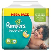 Pampers Baby Dry Taille 5 (Junior) 11 A 25 Kg Couches Mega Pack X74 Changes