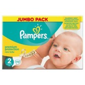 Pampers New Baby Taille 2 (Mini) 3 A 6 Kg Couches Jumbo Pack X70 Changes