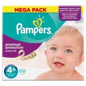 Pampers Active Fit Taille 4+ (Maxi Plus) 9 A 20 Kg Couches Mega Pack X72 Changes