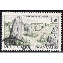 Timbre France Oblitéré n°1440 - 1965 - Alignements de Carnac