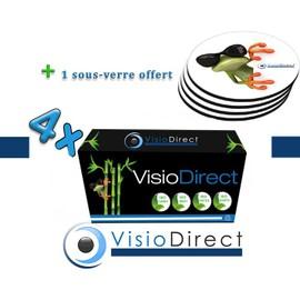 4 Toner Cartouche D'encre Laser Noir Ce278a 2100 Pages Pour Imprimante Canon I-Sensys Mf4580dn Certifi� Iso 9001 Iso 14001 + Sous Verre Offert - Visiodirect -