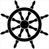 Autocollant Sticker Macbook Laptop Voiture Moto Gouvernail Marin Bateau Navire