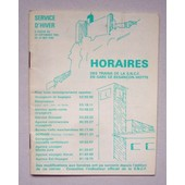Horaires Des Trains Sncf - Gare Viotte Besan�on Doubs. France 1985