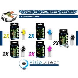 Pack De Dix Cartouche D'encre 4 Noir T0711 2 Cyan T0712 2 Magenta T0713 2 Jaune T0714 14 Ml G�n�rique Pour Epson Stylus Dx6050 Certifi� Iso 9001 Iso 14001