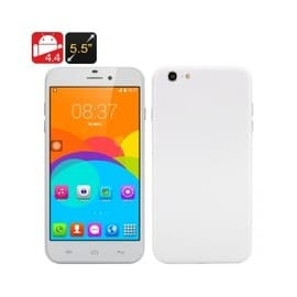 High-Tech Place 5.5 Inch Android i7 Phone - Android 4.4, MTK6572 Dual Core CPU, Dual SIM Front + Rear Camera (White) d'occasion  Livré partout en France