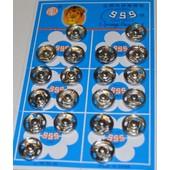 Lot 20 Boutons Pression M�tal Accessoire Couture Mercerie 1,30 Cm Ref: 3