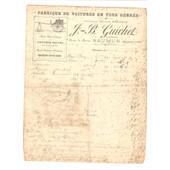 Maine-Et-Loire Saumur 2 Factures Guichet Route De Rouen Voitures En Tous Genres Vers 1905 Carrossier Invoices