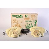 Ancien Telephone Electrique Marque Fj