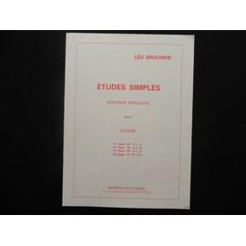 études simples (estudios sencillos) 4ème série : n° 16 à 20