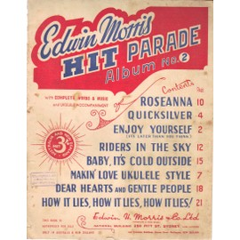 EDWIN MORRIS / HIT PARADE N°2 / Roseanna, quicksilver, enjoy yourself, riders in the sky...