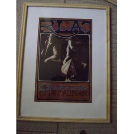 Affiche sous-verre de concert du Avalon Ballroom 1966