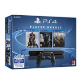 Console Playstation 4 500 Go Noire + Jeux Bloodborne + The Last Of Us Remastered + The Order 1886