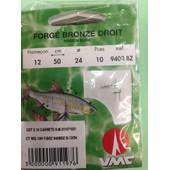 10 Hamecons Montes N�12 Sur 24 / 100 Forge Bronze Droit Waterqueen