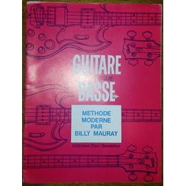 Méthode moderne de GUITARE BASSE par Billy MURRAY - Éditions Paul BEUSCHER 1967