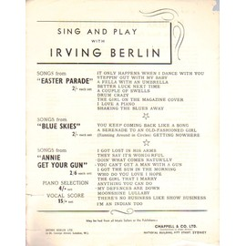 SING AND PLAY WITH IRVING BERLIN / EASTER PARADE / BLUE SKIES / ANNIE GET YOUR GUN