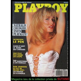 Playboy 20 Nathalie Coco Girl Nue Collaro Interview Jean Marie Le Pen Melanie Griffith Don Johnson