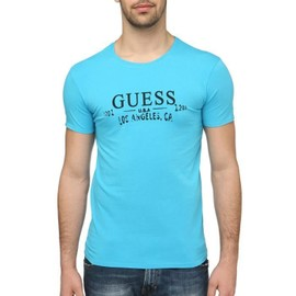 T Shirt Guess Ucpm29 Turquoise