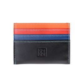 Credit Card Holder Multicolor In Nappa Leather 6 Pockets Dudu