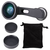 3in1 0.4x Wide Angle +Fisheye Macro Camera Selife Lens For iPhone 6 Plus DC592