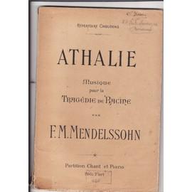 Athalie musique pour la tragédie de Racine chant et piano