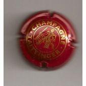 Capsule De Champagne Taittinger Rouge Et Or