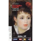 Billet Exposition Les Chefs D'oeuvre De La Collection Rau : De Fra Angelico � Bonnard